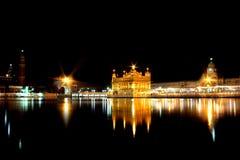 阿姆利则金黄印度旁遮普邦寺庙 库存照片