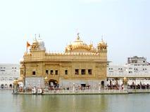 阿姆利则金黄印度日落寺庙 库存照片