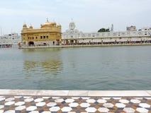 阿姆利则金黄印度日落寺庙 免版税库存图片