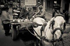 阿姆利则,旁遮普邦,印度的贸易商 库存照片