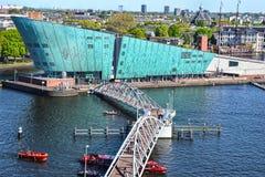 阿姆斯特丹、科学技术博物馆NEMO 免版税库存照片