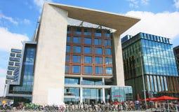 阿姆斯特丹中央图书馆外部看法  库存图片