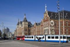 阿姆斯特丹中央岗位 免版税库存照片