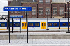 阿姆斯特丹中央岗位 库存图片