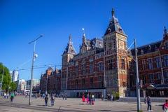 阿姆斯特丹中央驻地 免版税库存图片