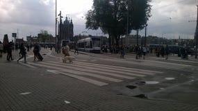 阿姆斯特丹中央 免版税图库摄影