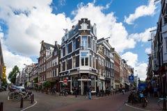 阿姆斯特丹交叉路  图库摄影