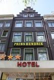 阿姆斯特丹亨德里克旅馆prins 免版税库存图片