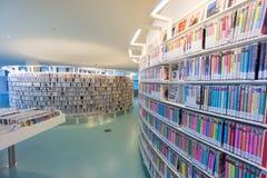 阿姆斯特丹公立图书馆  免版税图库摄影