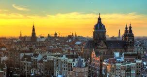 阿姆斯特丹冬天颜色 免版税库存图片