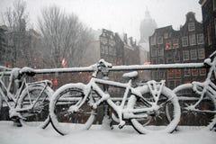 阿姆斯特丹冬天 免版税库存照片