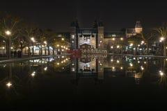 阿姆斯特丹前面我rijksmuseum 免版税图库摄影