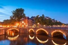 阿姆斯特丹反射,荷兰 库存照片