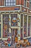 阿姆斯特丹咖啡馆的一个孤独的人 图库摄影