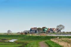 阿姆斯特丹在小的村庄附近marken 免版税库存照片