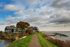 阿姆斯特丹在小的村庄附近marken 图库摄影