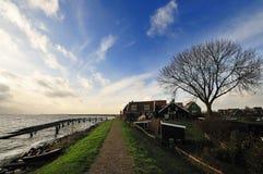 阿姆斯特丹在小的村庄附近marken 库存图片