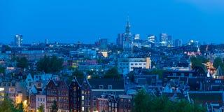 阿姆斯特丹在晚上 图库摄影
