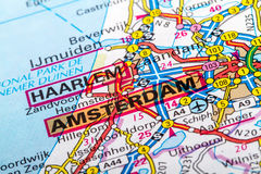 阿姆斯特丹地图 库存照片