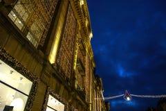 阿姆斯特丹城市视域在晚上 城市风景全视图  库存图片