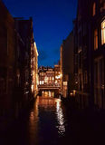 阿姆斯特丹夜间 库存照片