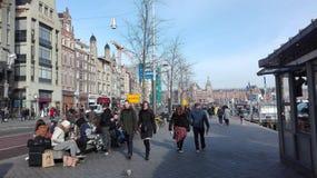 阿姆斯特丹大街的大厦  免版税图库摄影
