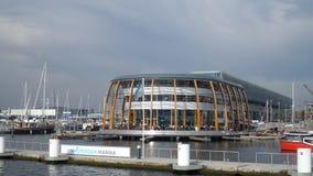 阿姆斯特丹小游艇船坞 免版税库存图片