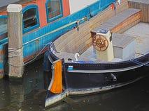 阿姆斯特丹小船 免版税库存照片