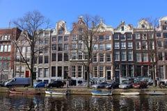 阿姆斯特丹小船 库存照片