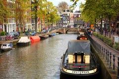 阿姆斯特丹小船 库存图片