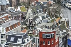阿姆斯特丹屋顶  免版税库存照片