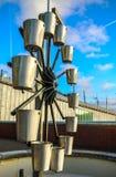 阿姆斯特丹市中心特写镜头著名雕塑多云天 城市纪念碑一般风景视图  库存图片