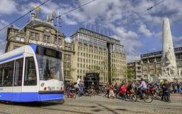 阿姆斯特丹市,荷兰,春天2012年 库存照片