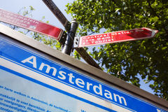 阿姆斯特丹您查找的方式 免版税库存照片