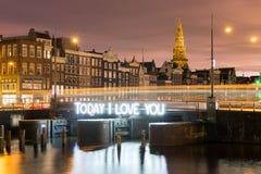 阿姆斯特丹我爱你 免版税图库摄影