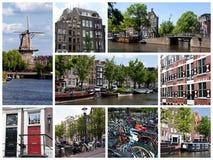 阿姆斯特丹拼贴画 免版税库存照片