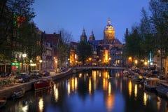 阿姆斯特丹教会荷兰尼古拉斯st 库存图片