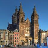 阿姆斯特丹教会荷兰尼古拉斯st 免版税库存图片