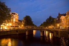 阿姆斯特丹晚上 免版税图库摄影