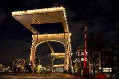 阿姆斯特丹桥梁 免版税库存照片