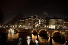 阿姆斯特丹桥梁 免版税库存图片