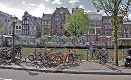 阿姆斯特丹浮动的花市场 库存图片