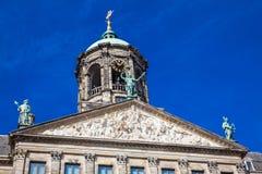 阿姆斯特丹王宫的细节  免版税库存照片