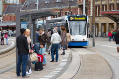 阿姆斯特丹电车 免版税图库摄影