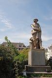 阿姆斯特丹画家伦布兰特雕象 免版税库存图片