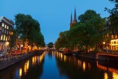 阿姆斯特丹的运河 免版税图库摄影