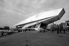 阿姆斯特丹眼睛,一个特别美丽的大厦 免版税库存图片