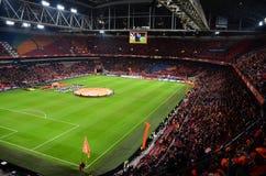 阿姆斯特丹竞技场 友好的比赛 荷兰对比利时 库存照片