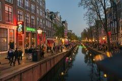 阿姆斯特丹红光区 库存照片