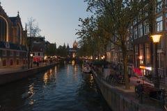 阿姆斯特丹红光区 免版税库存照片